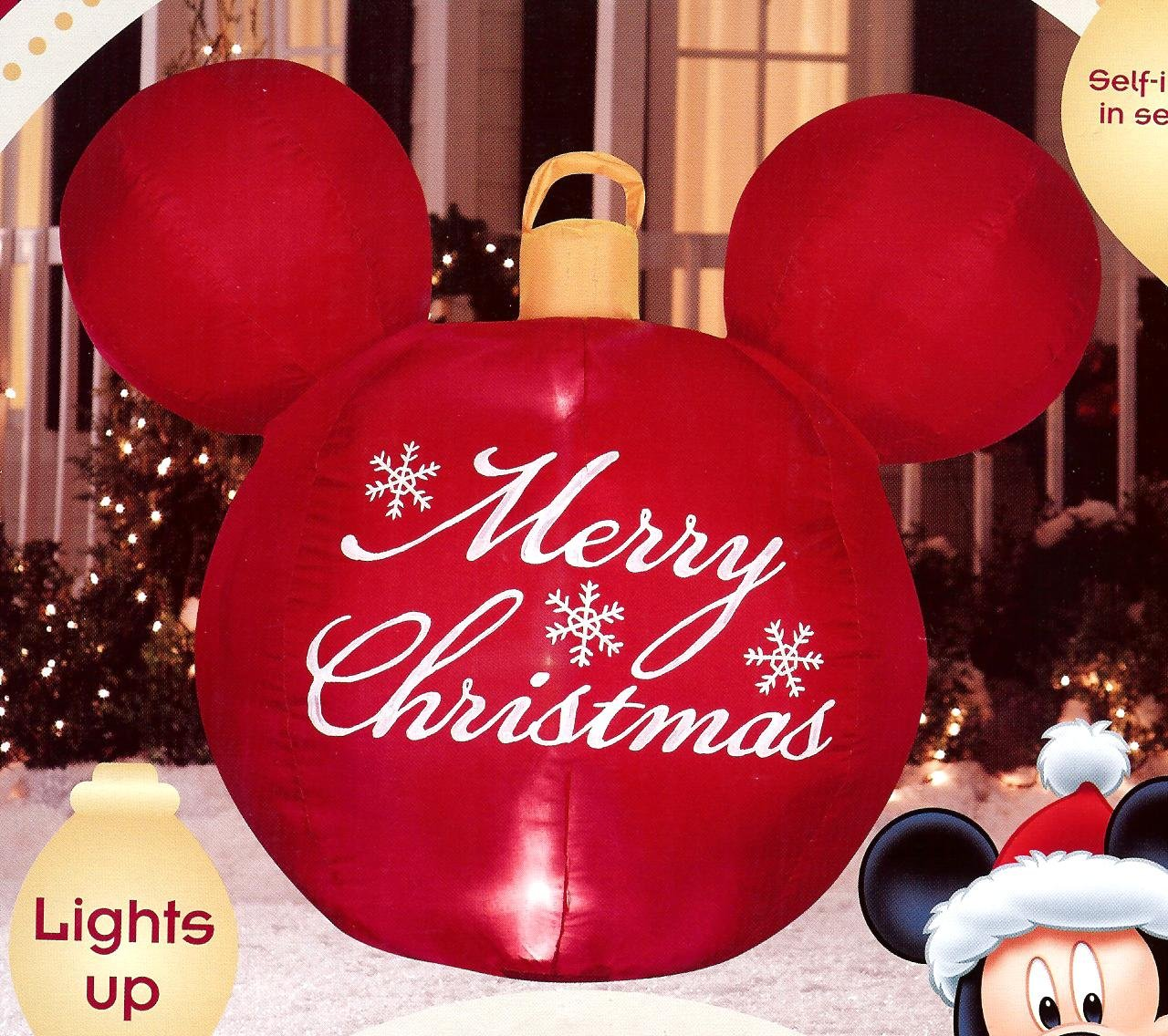 Amazon.com : Disney Mickey Mouse Ears Red Merry Christmas Ornament ...