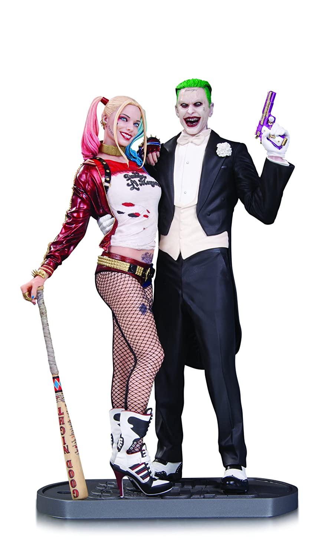 761941342016 Suicide Squad Joker//Harley Quinn Figurine DC Comics