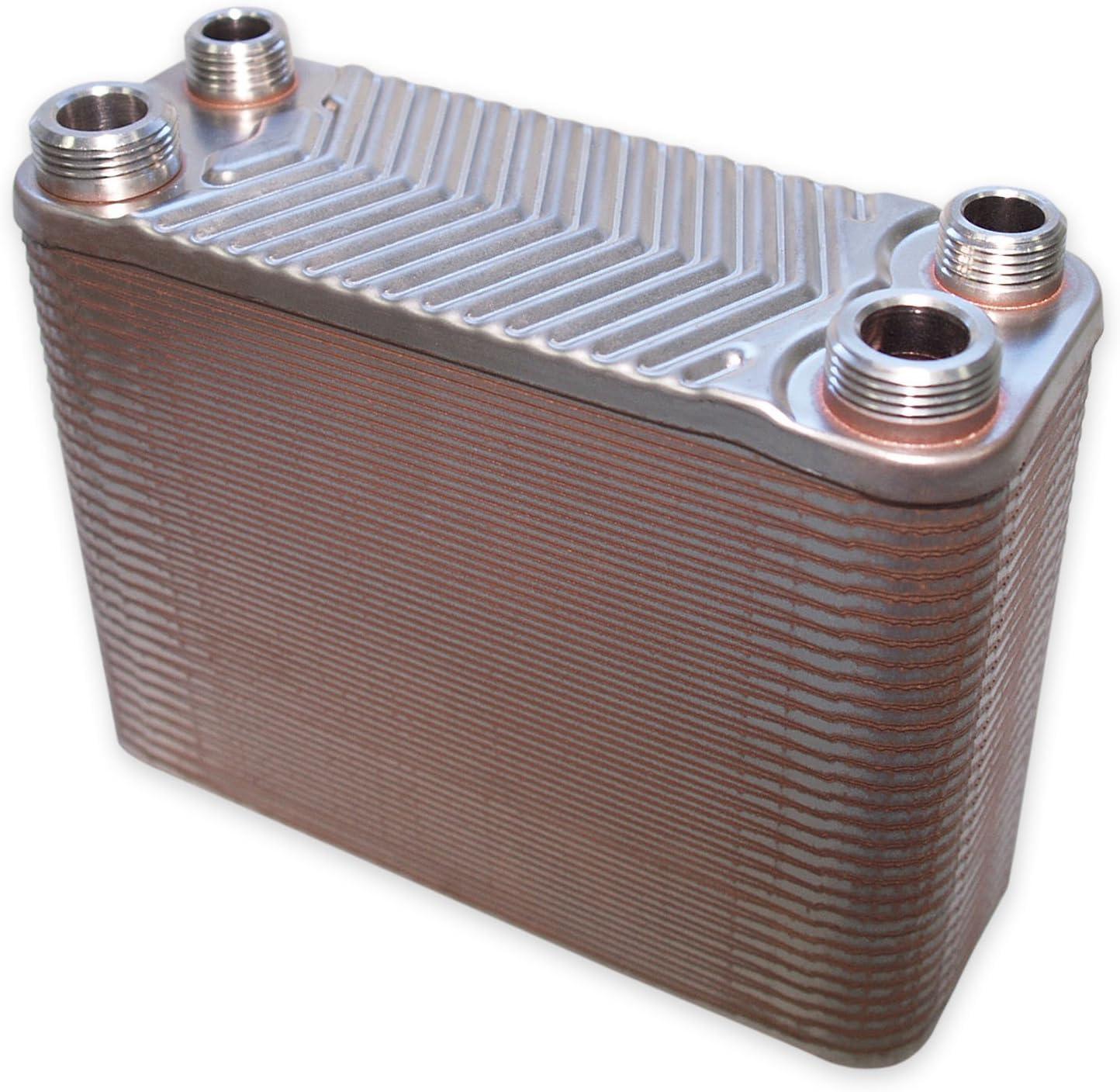 Hrale Intercambiador calor térmico acero inoxidable 60 placas Termocambiador placas máx. 130 kW