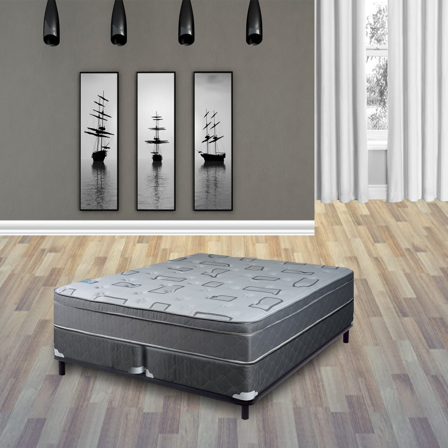 Continental Sleep Mattress 10 Inch Eurotop Pillowtop Fully Assembled Orthopedic Full Size Mattress with Split Box Spring Beautiful Rest Collection