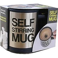 Tuelip Self Stirring Stainless Steel Mug 390 ml (Silver)