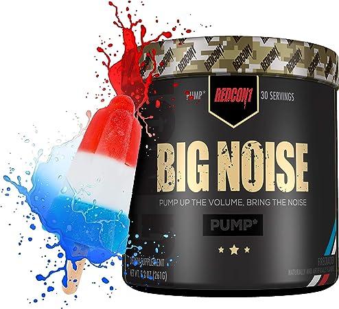 Redcon1 Big Noise Pump Pre-Workout, Firecracker Flavor, 30 Servings (11 Oz)