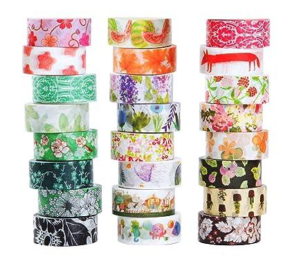 Amazon Com Washi Masking Tape Set Of 24 Decorative Masking Tape