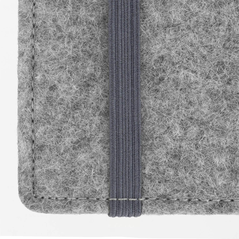 Smartphone-Tasche aus Filz Anfertigung f/ür Smartphones mit Case m/öglich Farbe: hellgrau-schwarz Stilbag ma/ßgeschneiderte Handyh/ülle FINN Handytasche Made in Germany Handy Schutzh/ülle