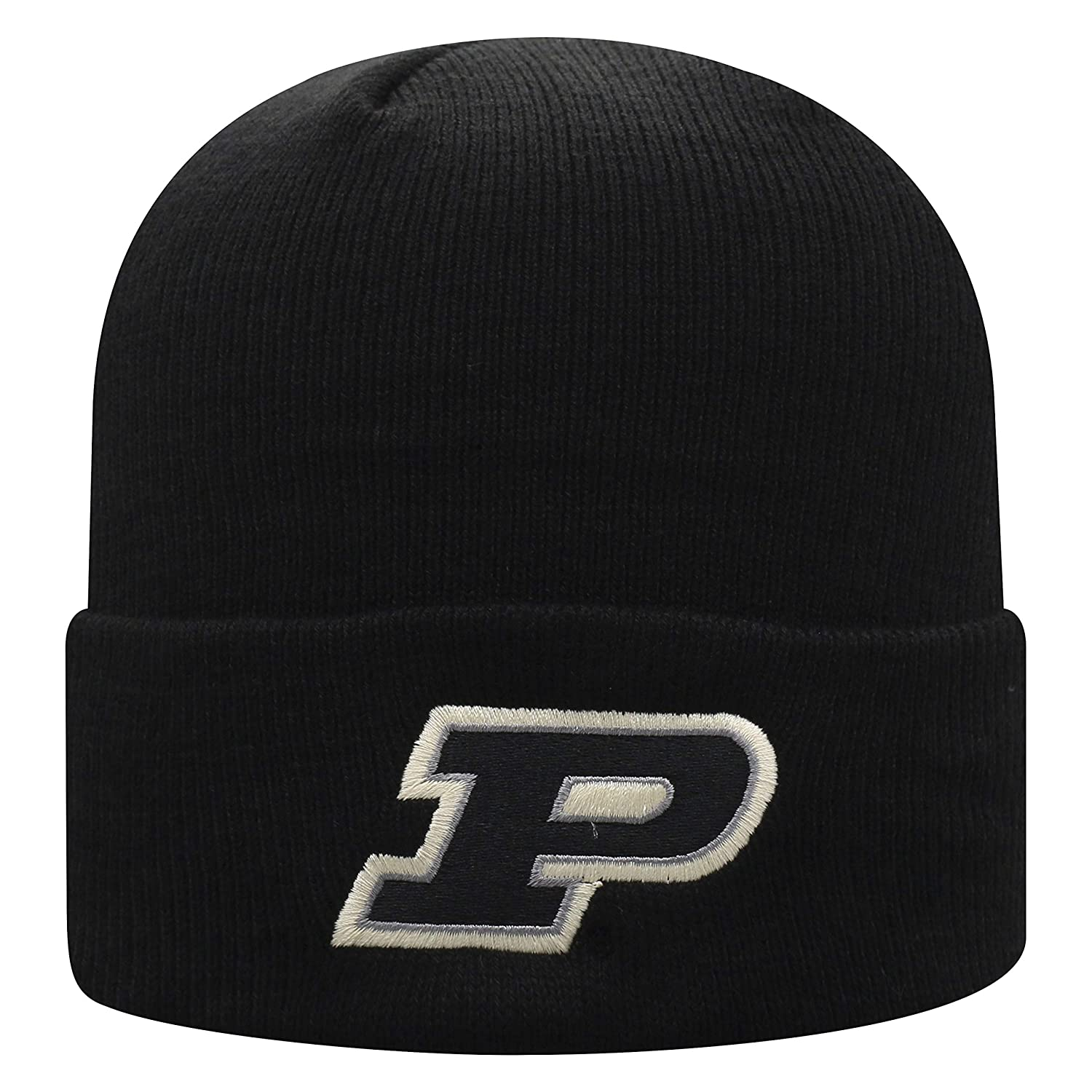 Top of the World NCAA Mens Cuffed Knit Hat Black Icon