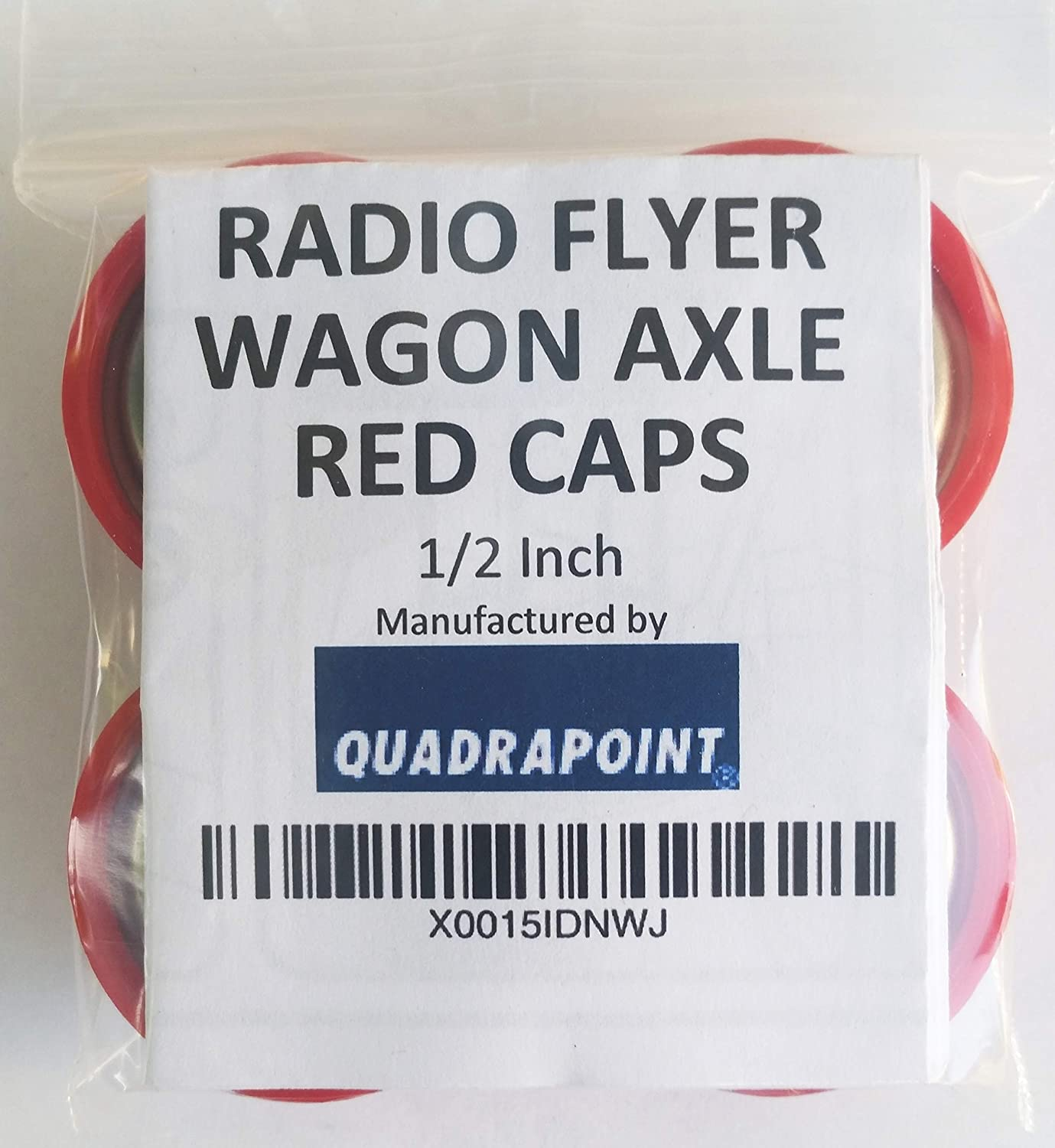 Quadrapoint Hub Cap Replacement for Radio Flyer Steel /& Wood Wagons 1//2 Red NOT for Plastic, Folding OR Little Wagon Model W5, Please Read Entire Product Description