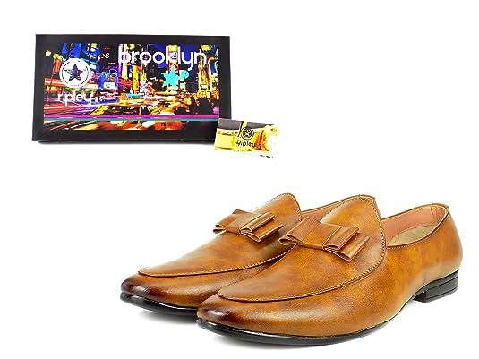Ripley Brooklyn UKMNSH180517A73 - Mocasines de sintético para Mujer Amarillo Negro 39 EU: Amazon.es: Zapatos y complementos