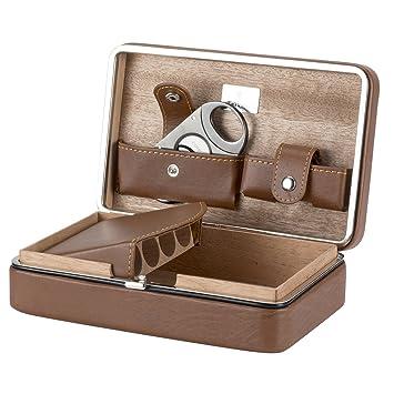 xifei tm leather cedar wood cigar humidors portable