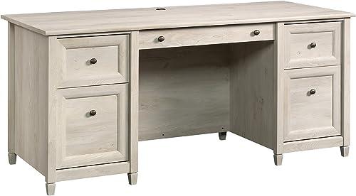 Sauder 418795 Edge Water Executive Desk, Chalked Chestnut Finish