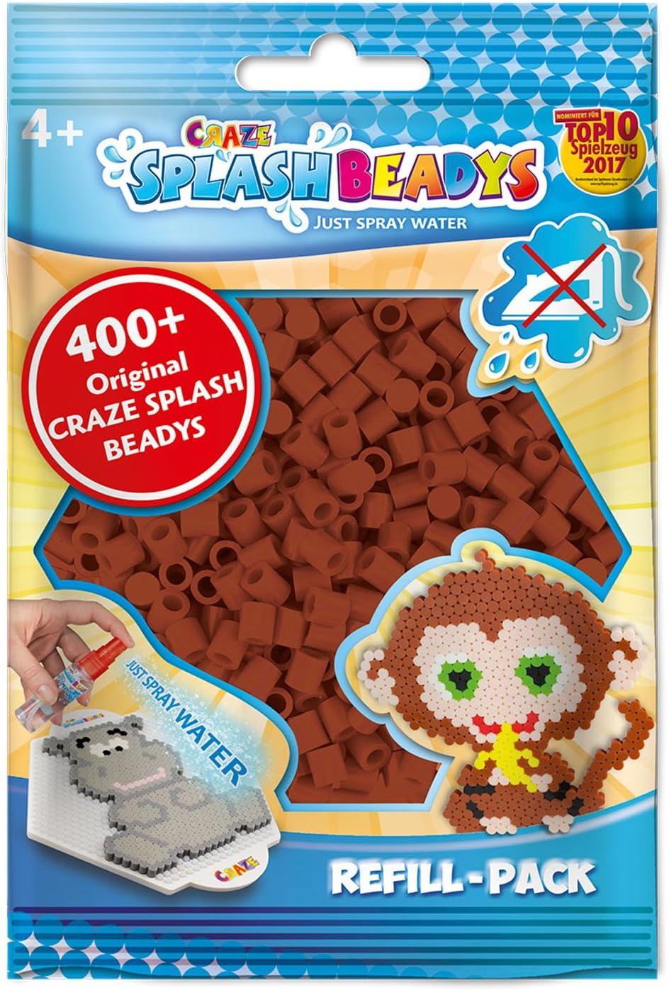 CRAZE fusibles Fuse Splash BEADYS Recarga Beads artesanales con tapón marrón Juego de Cuentas de Agua 11720, Color: Amazon.es: Juguetes y juegos