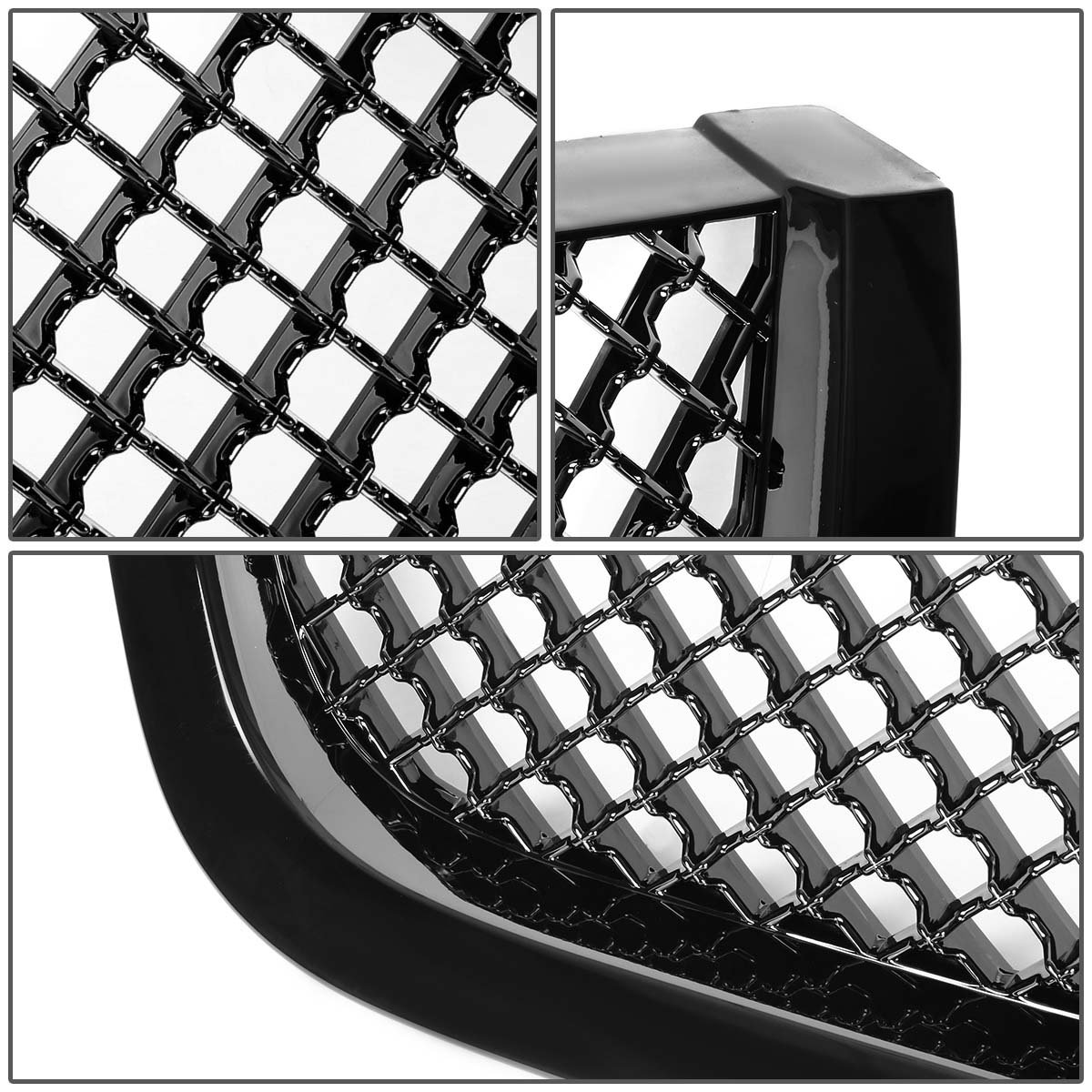 amazon for gmc acadia cuv gmt968 glossy black abs mesh style 2019 Toyota Highlander amazon for gmc acadia cuv gmt968 glossy black abs mesh style front bumper grill automotive