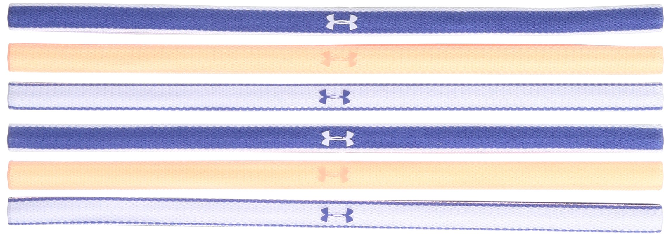 Under Armour Girls Mini Headbands - 6 Pack ,Deep Periwinkle (178)/White, One Size