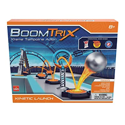 Goliath Boomtrix Kinetic Launch Kinetic Metal Ball Chain Reaction Stunt Kit - Fun - Educational - STEM: Toys & Games