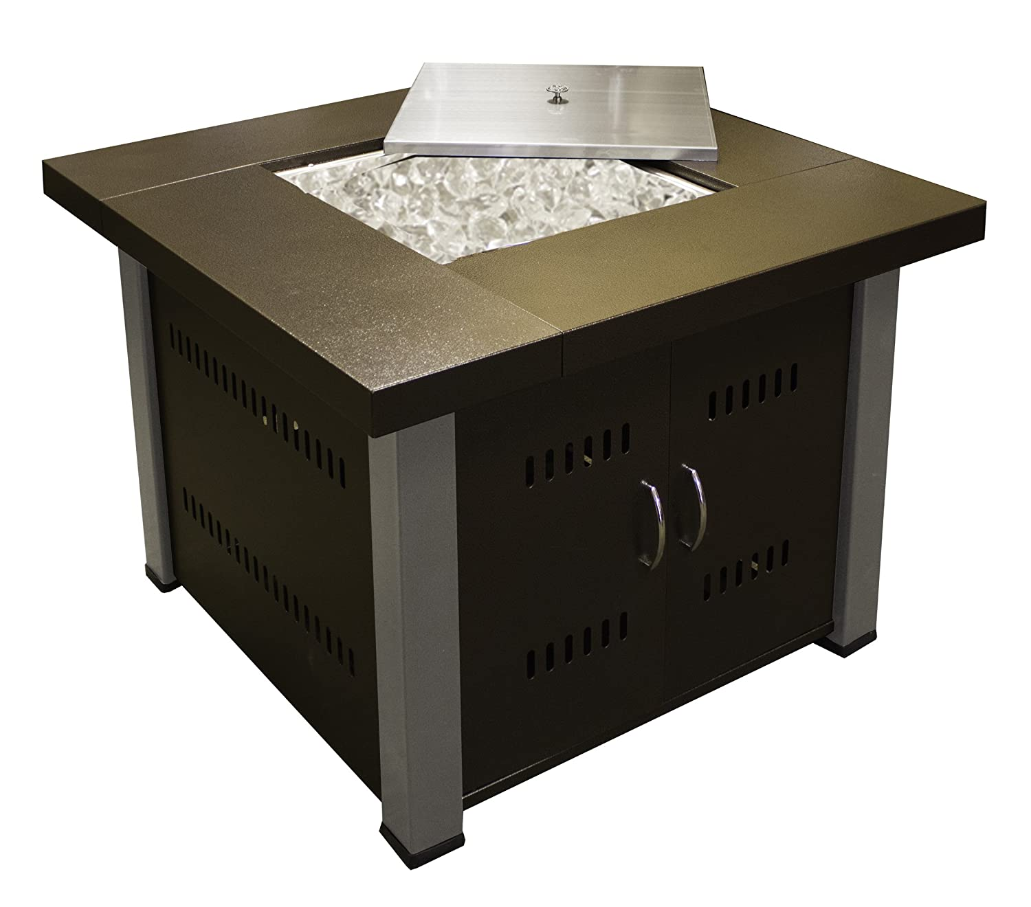 High Quality Amazon.com : AZ Patio Heaters Fire Pit, Propane In Two Tone Hammered Bronze  And Stainless Steel : Gas Fire Pit : Patio, Lawn U0026 Garden