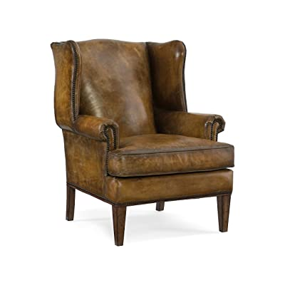 Hooker Furniture Blakeley Leather Club Chair in Brown - Amazon.com: Acme Quinto Accent Chair, Antique Red Top Grain Leather