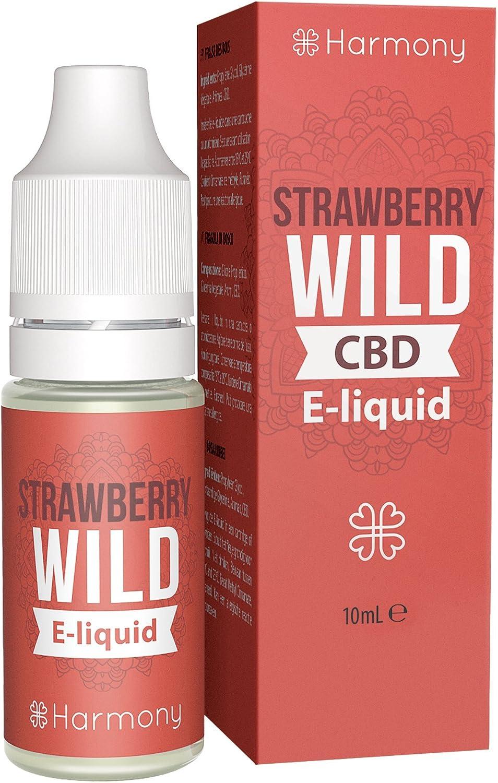 Harmony E-líquido de CBD (más de 99% pureza) - Wild Strawberry - 100 mg CBD en 10 ml - Sin Nicotina