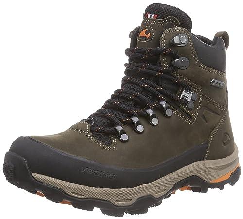 3-85010 - Zapatillas de Senderismo de Cuero Unisex Adultos, Color Marrón, Talla 37 EU Viking