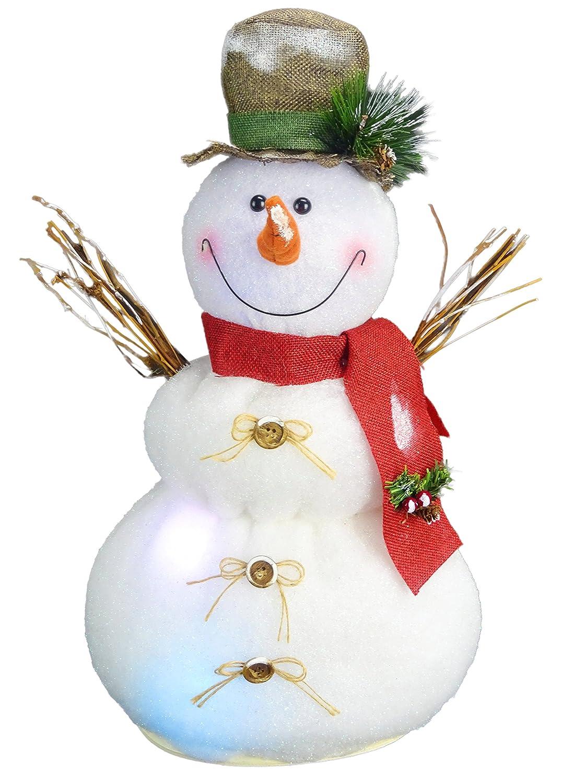 Christmas Concepts® 50cm Leuchten Schneemann mit Besen Weihnachtsdekoration mit Farbe Wechselnde LED-Leuchten - Batteriebetrieben Christmas Concepts®