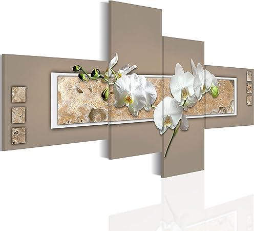 B&D XXL murando Impression sur Toile intissee 100x48 cm 4 Pieces Tableau  Tableaux Decoration Murale Photo Image Artistique Photographie Graphique ...