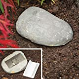 Bits and Pieces - Weather Resistant Hide-A-Key Stone Safe Gadget - Fake Rock for Spare Key Hider or Other Small Objects