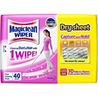 MAGICLEAN Wiper Dry Sheet 40s + Wet Strong 12s, 2 count (Pack of 2)