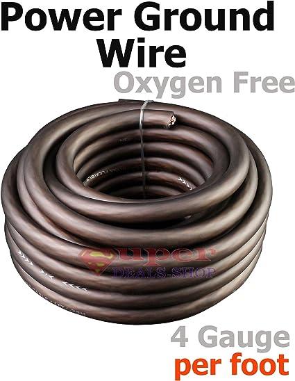 Gauge Black Power Wire Oxygen Free Copper OFC 0000 KnuKonceptz Kolossus Flex Kable 4//0