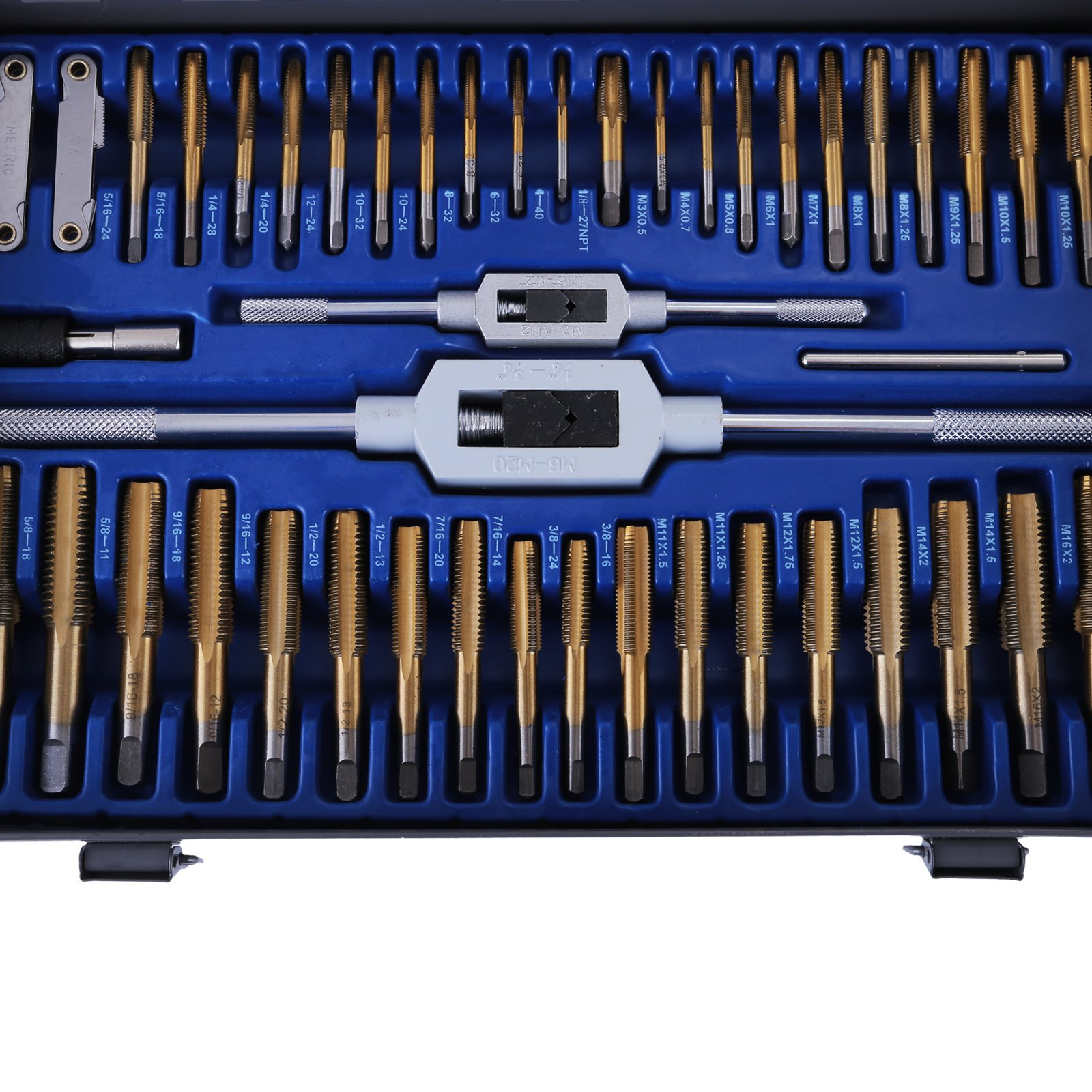 Happybuy Tap and Die Set 86PCS Combination SAE / Metric Tap and Die Kit for Cutting External and Internal Threads with Storage Case by Happybuy (Image #6)