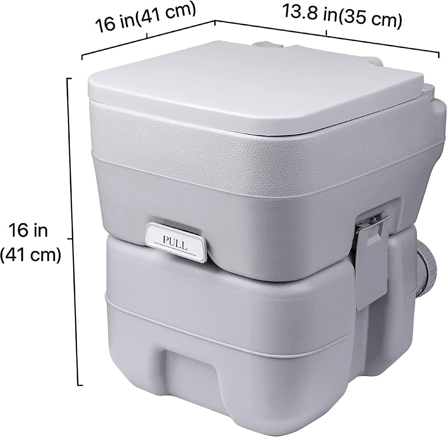 Travel Mobile Toilet Potty Seat w//Large 5.3 Gal Water Tank /& 3 Gal Waste Holding Tank Flexzion Outdoor Portable Toilet 3-Way Flush Cover and for Camping Hiking RV Travel Boat Outdoors Hiking Trip