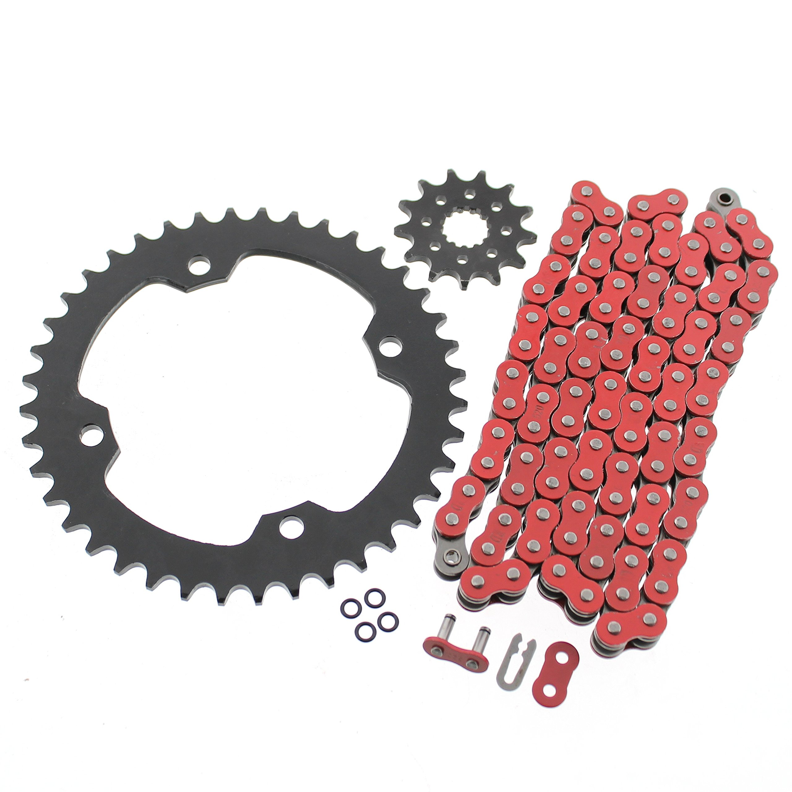 2004-2013 Yamaha YFZ450 520-96 Red O Ring Chain & Sprocket Black 14/38