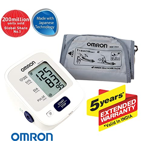 Omron Hem 7121 Fully Automatic Digital Blood Pressure Monitor With