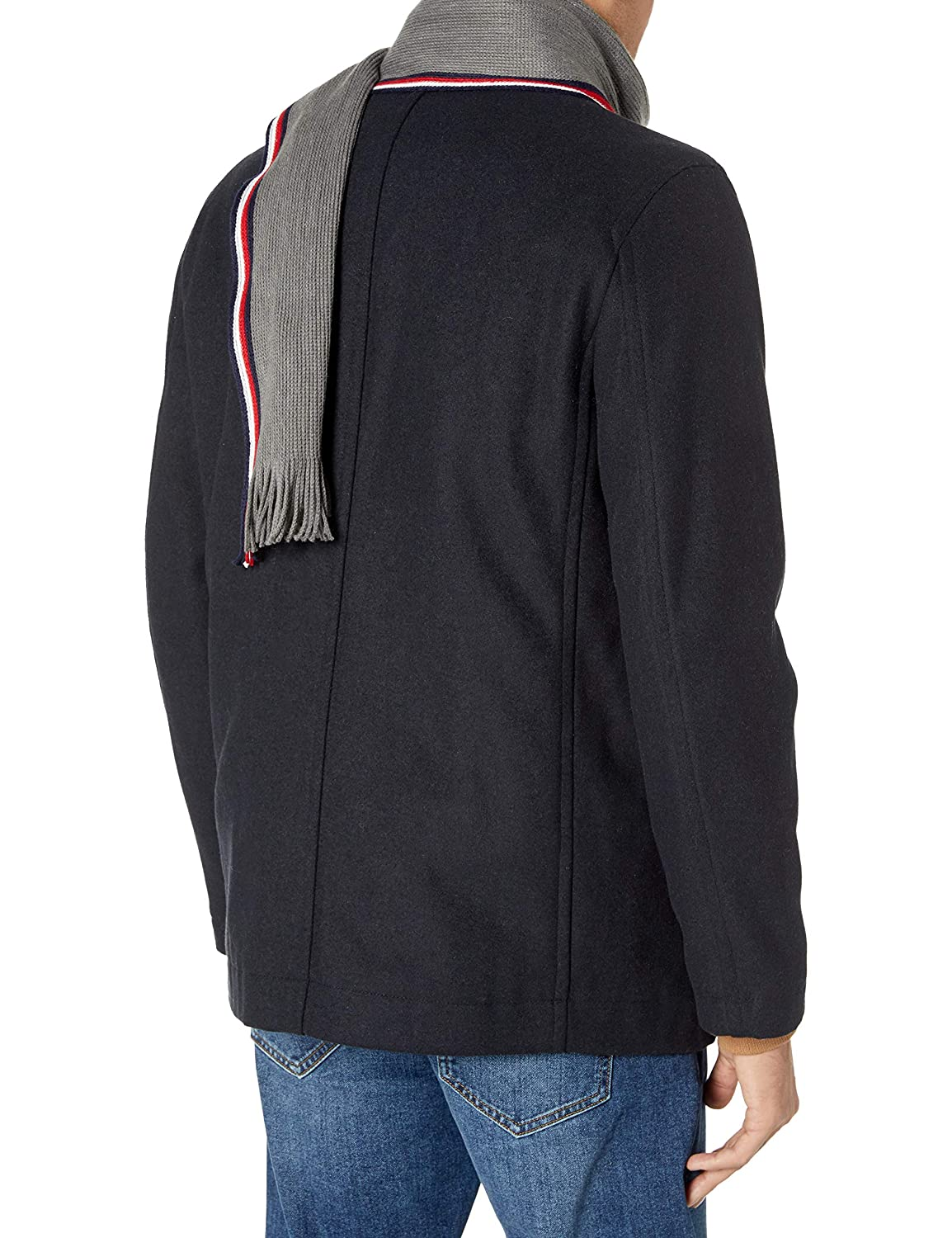 Tommy Hilfiger Mens Classic Wool Blend Double Breasted Peacoat