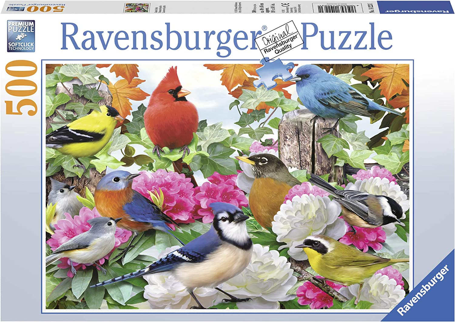Three-Layer Paper Material,Every Piece Fits Together Perfectly Bird 500 Piece Jigsaw Puzzle for Adults Kids Teens