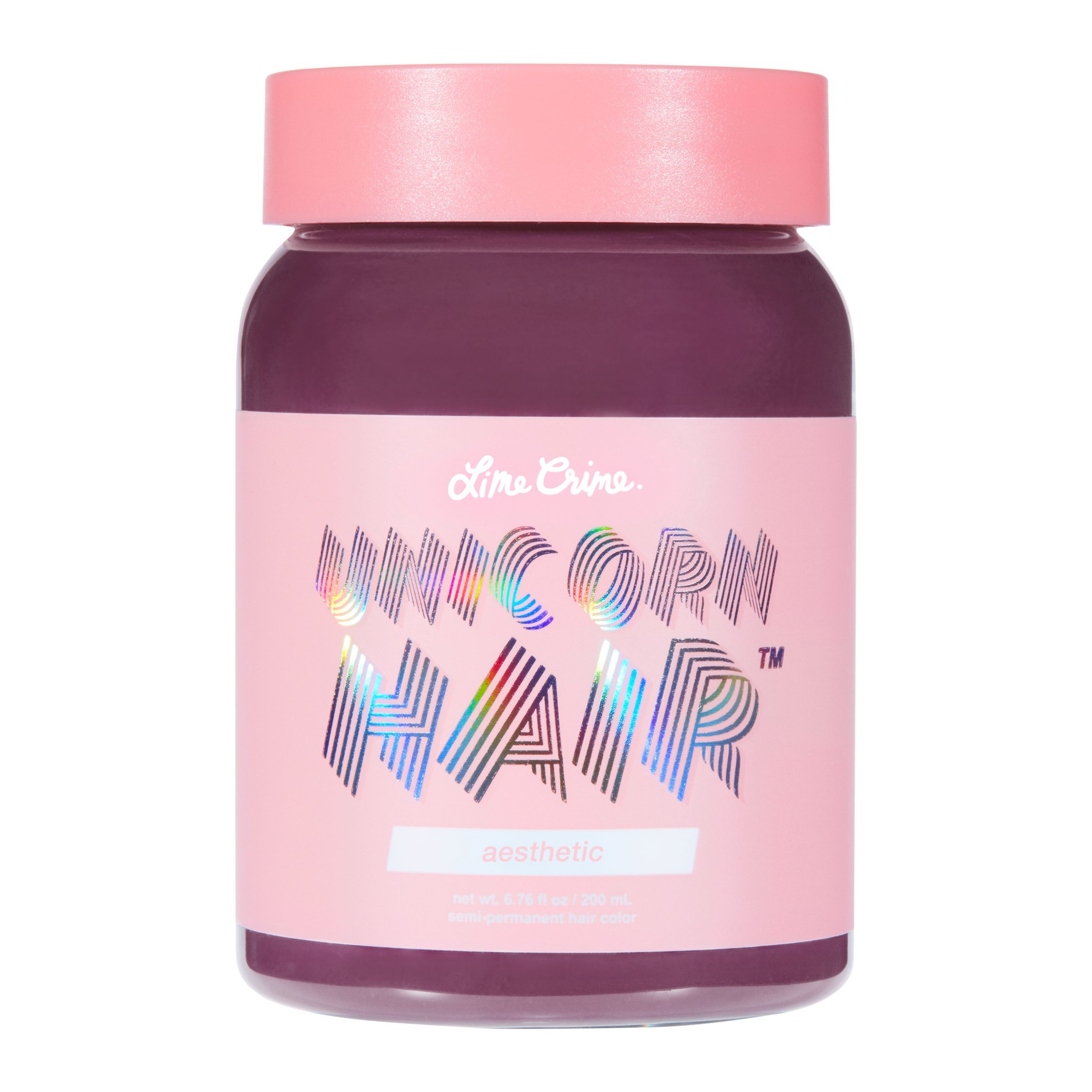 Lime Crime Unicorn Hair Aesthetic (Full Coverage). Semi Permanent Hair Dye. Mauve Vegan Hair Color (6.76 fl oz/200 mL).