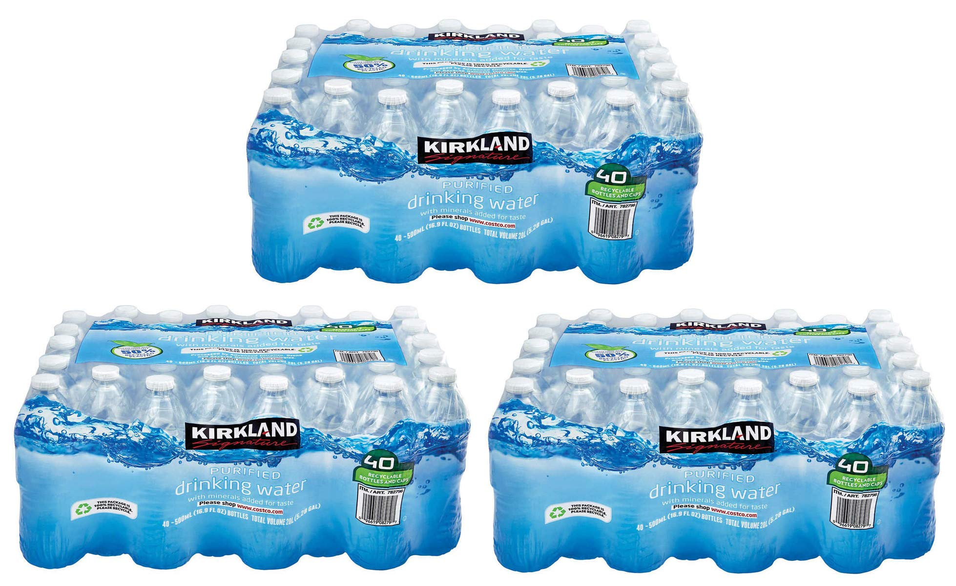 MNJDHCHG Purified Drinking Water, 16.9 Ounce, 3 Pack of 40 Bottles