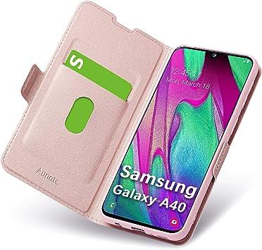 Fundas Samsung Galaxy A40, Funda Samsung A40 Libro, Carcasa A40 ...