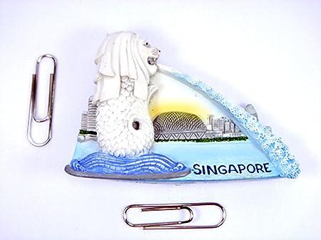 Imanes de nevera recuerdos Merlion Singapur hecho a mano Escultura ...