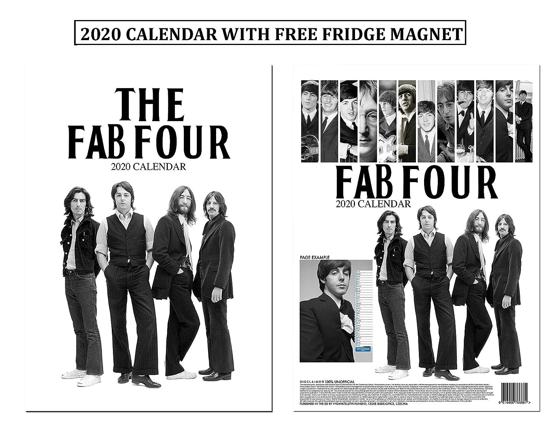 July 2020 Black//White The Beatles Desk Calendar July 2019