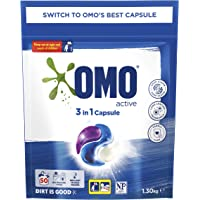 Omo Laundry Triple Capsules, 3 in 1 Capsule, Active, 50 Pack
