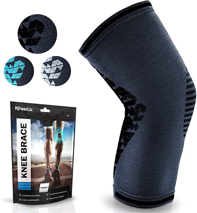 Crossfit 1 Pair Running Proflex Braces Support Meniscus Tear MCL Squats and Workouts ACL Small Compression Knee Braces for Women and Men by Fitbyx Blue Arthritis