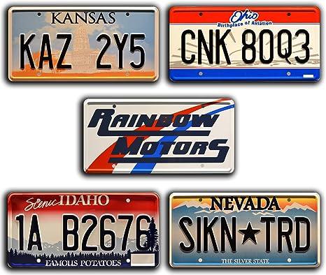 Supernatural | KAZ 2Y5 | 5 Pack | Metal Stamped License Plates ...