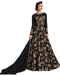 b8f1b2b02f Delisa Indian/Pakistani Bollywood Party Wear Long Anarkali Gown for Womens  Razzi violate N
