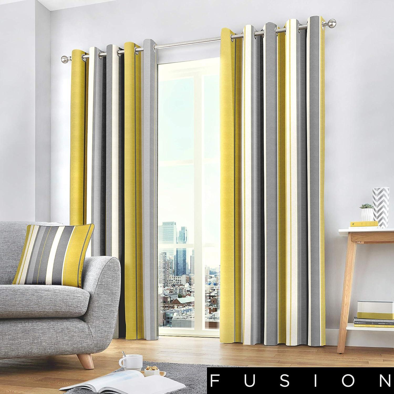 Fusion Whitworth Housse de Coussin 100/% Coton Motif Rayures Bleu 117 x 137cm 100/% Coton Curtains: 46 Width x 54 Drop