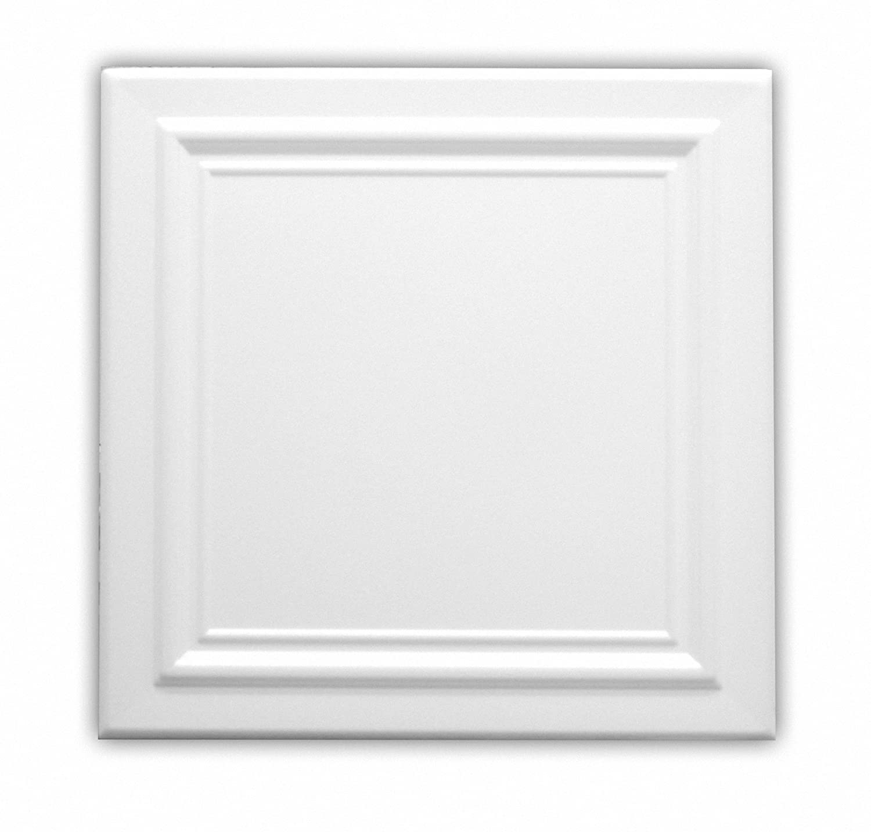 Azulejos de techo de espuma de poliestireno 08122 (paquete de 96 pc / 24 metros cuadrados) Blanco VTM