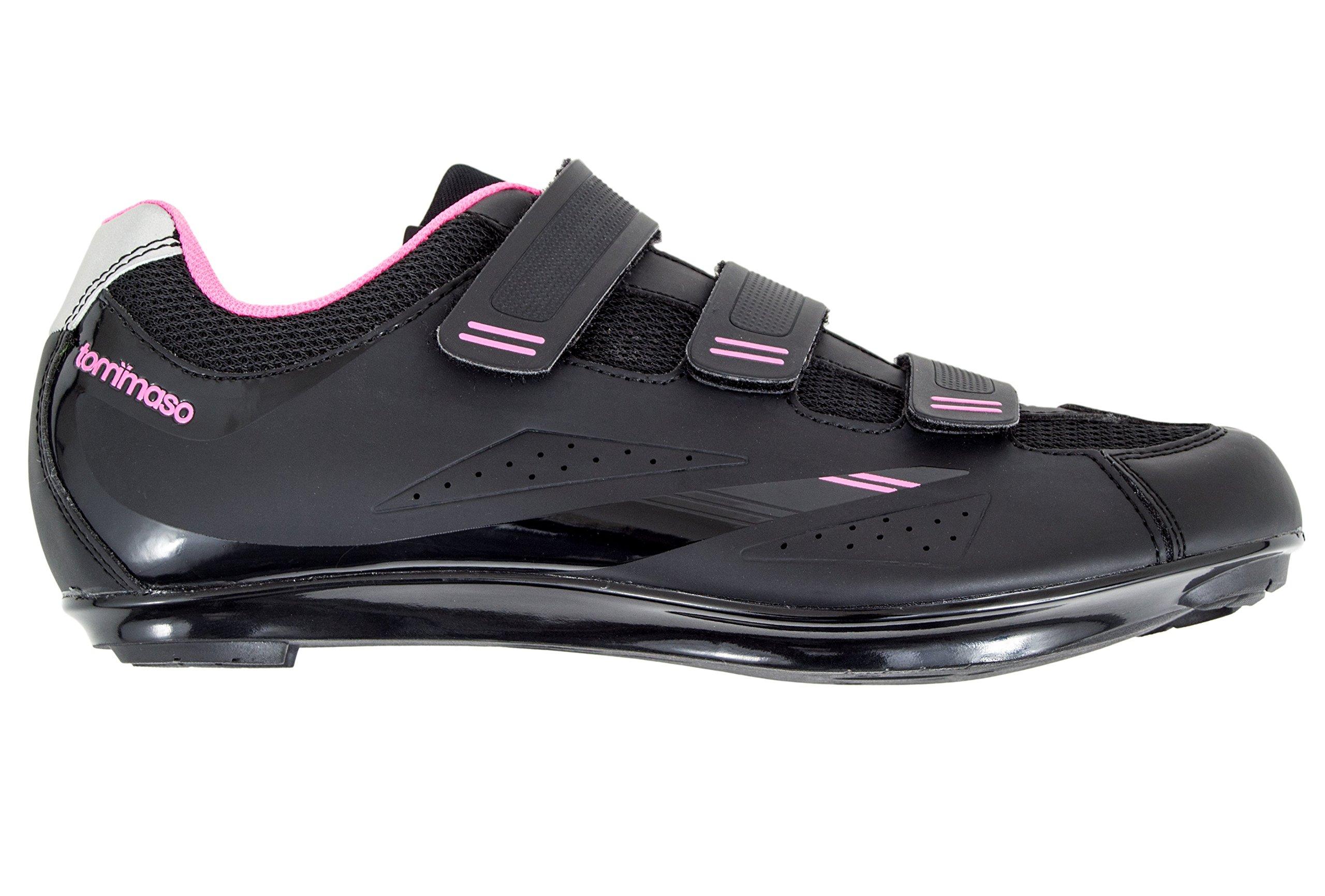 Tommaso Pista Women's Spin Class Ready Cycling Shoe - Black/Pink - Look Delta - 38 by Tommaso (Image #2)