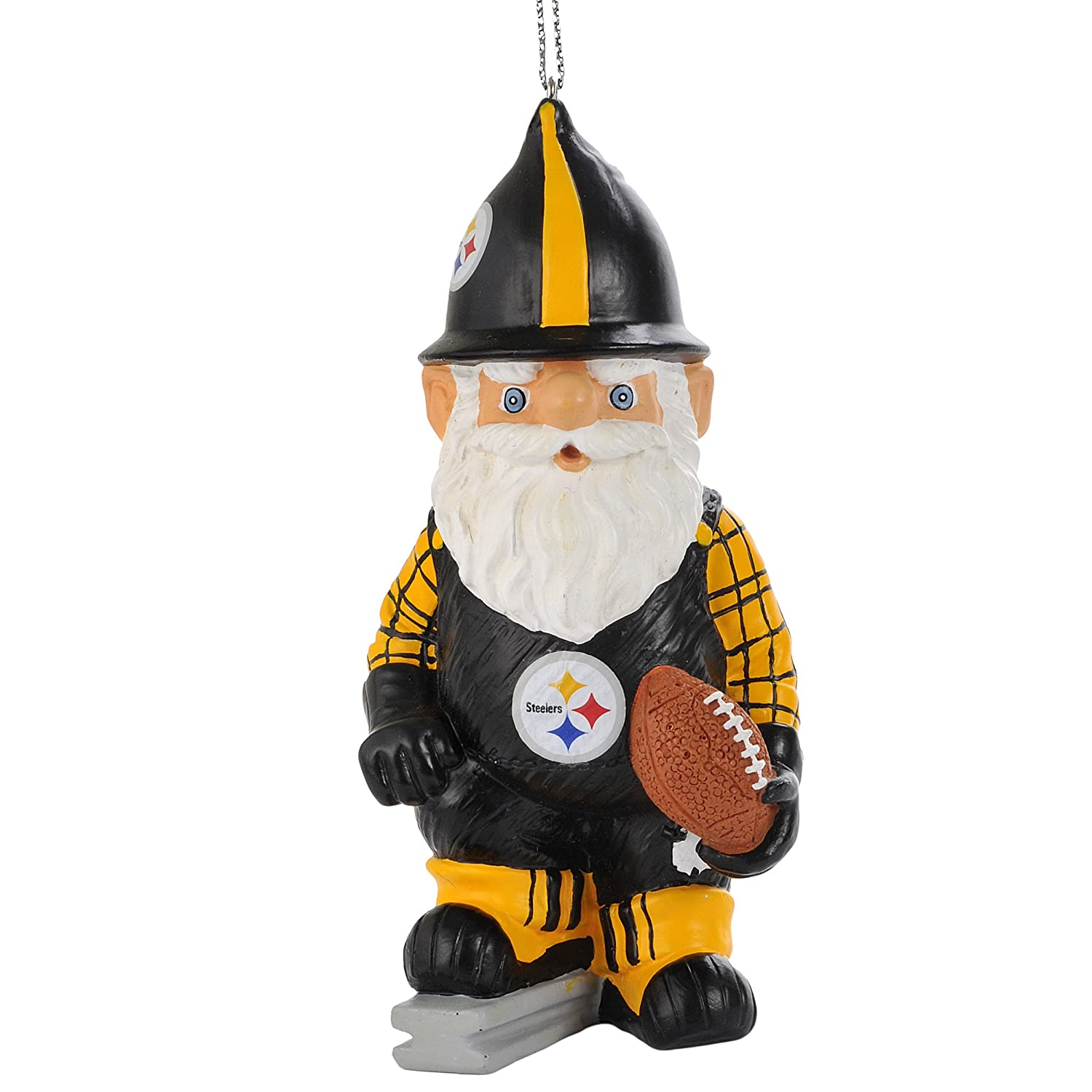 Amazon.com : NFL Pittsburgh Steelers Thematic Gnome Ornament ...