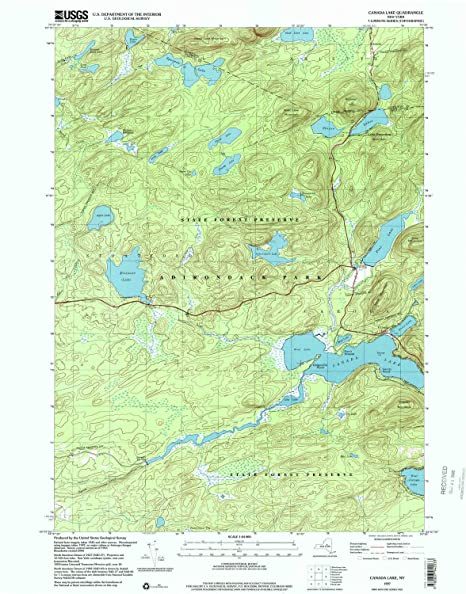 Amazon.com : YellowMaps Canada Lake NY topo map, 1:24000 Scale, 7.5 on