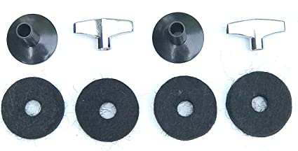 Platillo Wing Nut Drum Drum 8mm Platillo Wing Tuerca Quick Release Drum Cymbal Stand Wingnuts Silver Percussion Parts