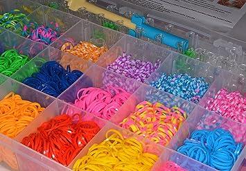 e95c3c1a8fc5 ATEAMART loom bands caja de gomas para hacer pulseras con 4200pcs de gran  surtido de colores, 170 uniones,5 agujas, 1 plantilla