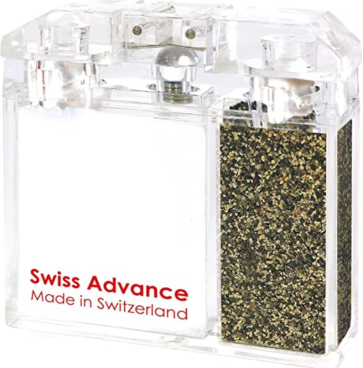 Swiss Advance Classic Spice Shaker Salt and Pepper Camping Shaker