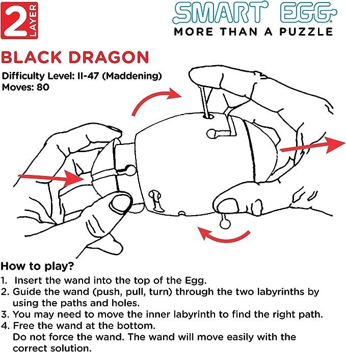 Smart Egg Black Dragon: 3D Puzle Laberinto un Rompecabezas dif/ícil 3er Nivel de dificultad de 3 - Extremo - Resolver el Laberinto Dentro del Huevo para 8+ para los Fan/áticos de los Rompecabezas